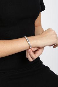 Buy Yellow Chimes Swarovski Crystal Deep Ocean Love Hearts White Bracelet