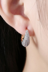 Buy Yellow Chimes Crystals from Swarovski Classic Designer Gold Plated Stylish Hoop Earrings