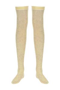 Buy Zivame Seamless Full Length Socks- Yellow