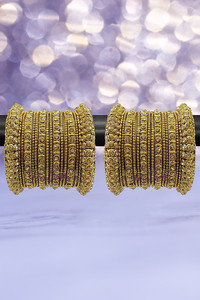 Buy Youbella Stylish Traditional Jewellery Gold Plated Bangle Set For Women (Golden)(Ybbn_91505_2.4)