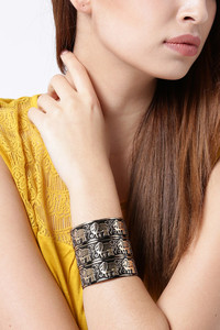 Buy YouBella Stylish Party Wear Jewellery Gold Plated Cuff for Women (Golden)(YBBN_91539)