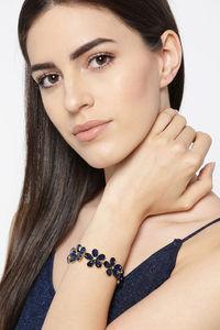 Buy YouBella Blue Gold Plated Stylish Latest Crystal Bracelet Bangle Jewellery for Girls and Women