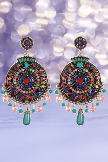 Youbella Non Precious Metal Fashion Jewellery Bohemian Stylish Multi Color Fancy Party Wear Earrings For Girls And Women