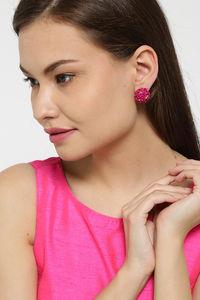 Buy YouBella Stylish Party Wear Jewellery Gold Plated Studs Earrings for Women (Pink)(YBEAR_31677)
