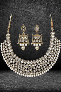 Buy Youbella Stylish Traditional Party Wear Jewellery Gold Plated Jewellery Set For Women (Golden) (Ybnk_5562)