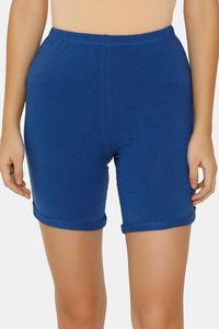 Buy Zalza Teens Organic Cotton Skin Fit Super Soft Outdoor Shorts - Monaco Blue