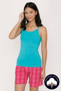 Buy Zalza Teens Organic Cotton Seamless  Eco Friendly Camisole - Blue