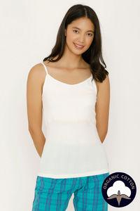 Buy Zalza Teens Organic Cotton Seamless  Eco Friendly Camisole - White