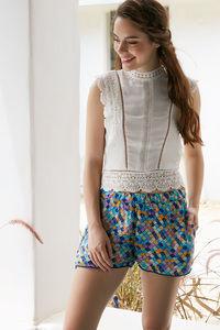 Buy Zephyr Abstract Printed Casual Shorts- Multiglass Print