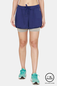 Buy Zelocity Straight Fit Nouveau Shine Shorts - Medieval Blue