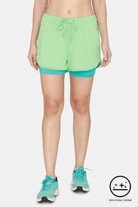 Buy Zelocity Straight Fit Nouveau Shine Shorts -Spring Bud