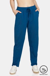 Buy Zelocity Easy Movement Straight Fit Pants - Blue Opal