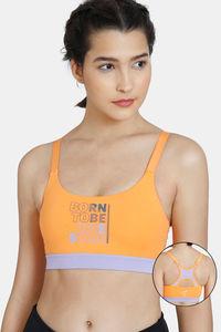 Buy Zelocity GRL Nouveau Stretch Sports Bra - Muskmelon