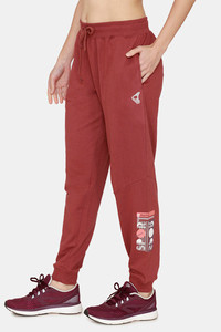Buy Zelocity Relaxed Fit Mid Rise Joggers - Wild Ginger