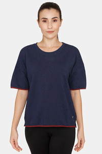 Buy Zelocity Relaxed Fit T-Shirt -Dress Blues
