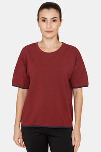 Buy Zelocity Relaxed Fit T-Shirt -Tawny Port