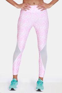 Buy Zelocity Mid Rise Nouveau Shine Leggings - Sachet Pink