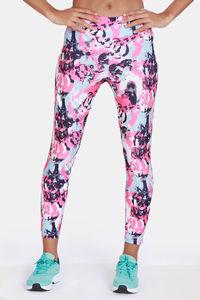 Buy Zelocity Mid Rise Nouveau Shine Leggings - Pink Lemonade