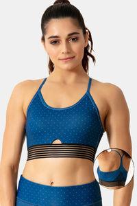 Buy Zelocity Sports Bra With Removable Padding - Blue
