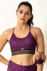 Buy Zelocity Sports Bra With Removable Padding - Purple