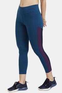 Buy Zelocity Mid Rise Nouveau Stretch Legging - Blue Opal