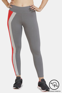 Buy Zelocity Mid Rise Nouveau Stretch Legging - Grey Red