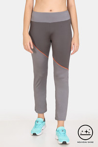 Buy Zelocity Relaxed Fit High Rise Nouveau Shine Pants - Smoke Pearl