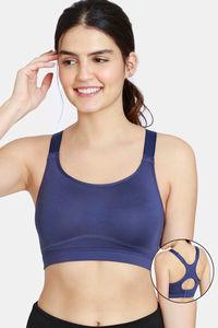Buy Zelocity Nouveau Soft Back Open Sports Bra - Crown Blue