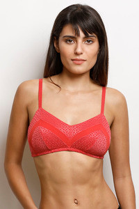 Buy Zivame Moroccan Lace Double Layered Non Wired 3/4th Coverage Bra-Bittersweet