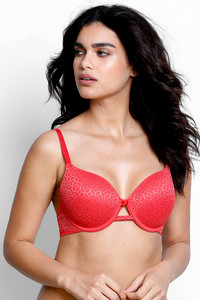 Buy Zivame Moroccan Lace Padded Wired 3/4th Coverage T-Shirt Bra-Bittersweet