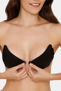 Buy Zivame Padded Non Wired Low Coverage Stick On Bra-Black