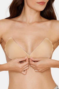Buy Zivame Padded Non Wired Low Coverage Stick On Bra-Skin