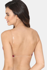 Buy Zivame Beautiful Basics Padded Non Wired 3/4th Coverage Backless Bra - Beet Red