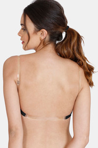 Buy Zivame Beautiful Basics Medium Padded Non Wired 3/4th Coverage Backless Bra -Black