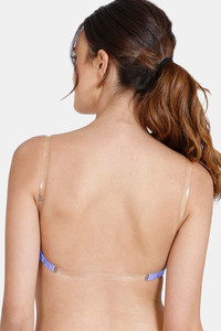 Buy Zivame Beautiful Basics Padded Non Wired 3/4th Coverage Backless Bra - Violet Tulip