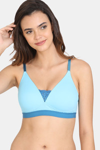 Buy Zivame Beautiful Basics Padded Non-Wired 3/4Th Coverage T-Shirt Bra - Crystal Seas