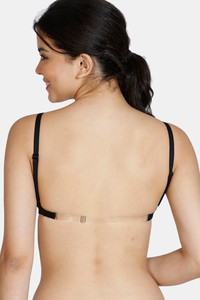 Buy Zivame Beautiful Basics Double Layered Non Wired Full Coverage Backless Bra - Black