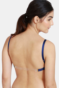 Buy Zivame Beautiful Basics Padded Non Wired 3/4th Coverage Backless Bra - Blue Depth