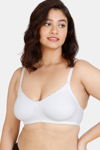 Buy Zivame Beautiful Basics Double Layered Non-Wired 3/4Th Coverage Super Support Bra - White