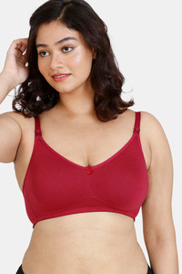 Buy Zivame Maternity Double Layered Non Wired 3/4th Coverage Maternity/ Nursing Bra - Beet Red