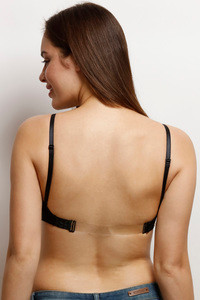 Buy Zivame Padded Non Wired 3/4th Coverage Backless Bra-Black