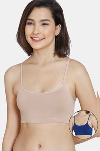 Buy Zivame GRL Double Layered Non-Wired Full Coverage Bra Pack Of 2 - Roebuck Navy