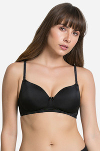 Buy Zivame Padded Non Wired 3/4th Coverage T-Shirt Bra-Anthracite