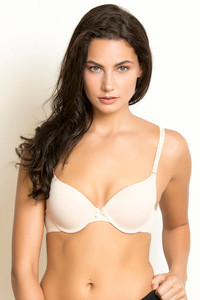 Buy Zivame Push Up Wired 3/4th Coverage T-Shirt Bra-Toasted Almond