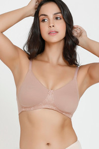 Buy Zivame Basics Double Layered Non Wired 3/4th Coverage Bra-Skin