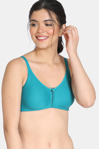 Buy Zivame Double Layered Non Wired 3/4th Coverage Bra - Harbor Blue
