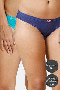 Buy Zivame Bikini Low Rise Anti-Microbial Panty (Pack of 2) - Blue Depth Ceramic