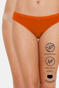 Buy Zivame Bikini Low Rise Anti-Microbial Panty (Pack of 2) - Orange Roebuck
