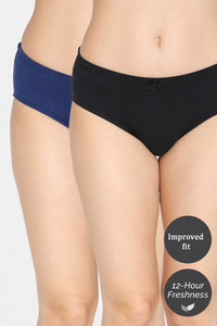 Buy Zivame Anti-Microbial Low Rise Hipster Panty  (Pack of 2 ) - Anthracite Blue