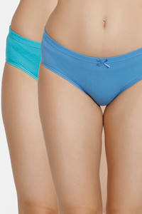 Buy Zivame Anti-Microbial Low Rise Hipster Panty (Pack of 2 ) - Pacific Ceramic